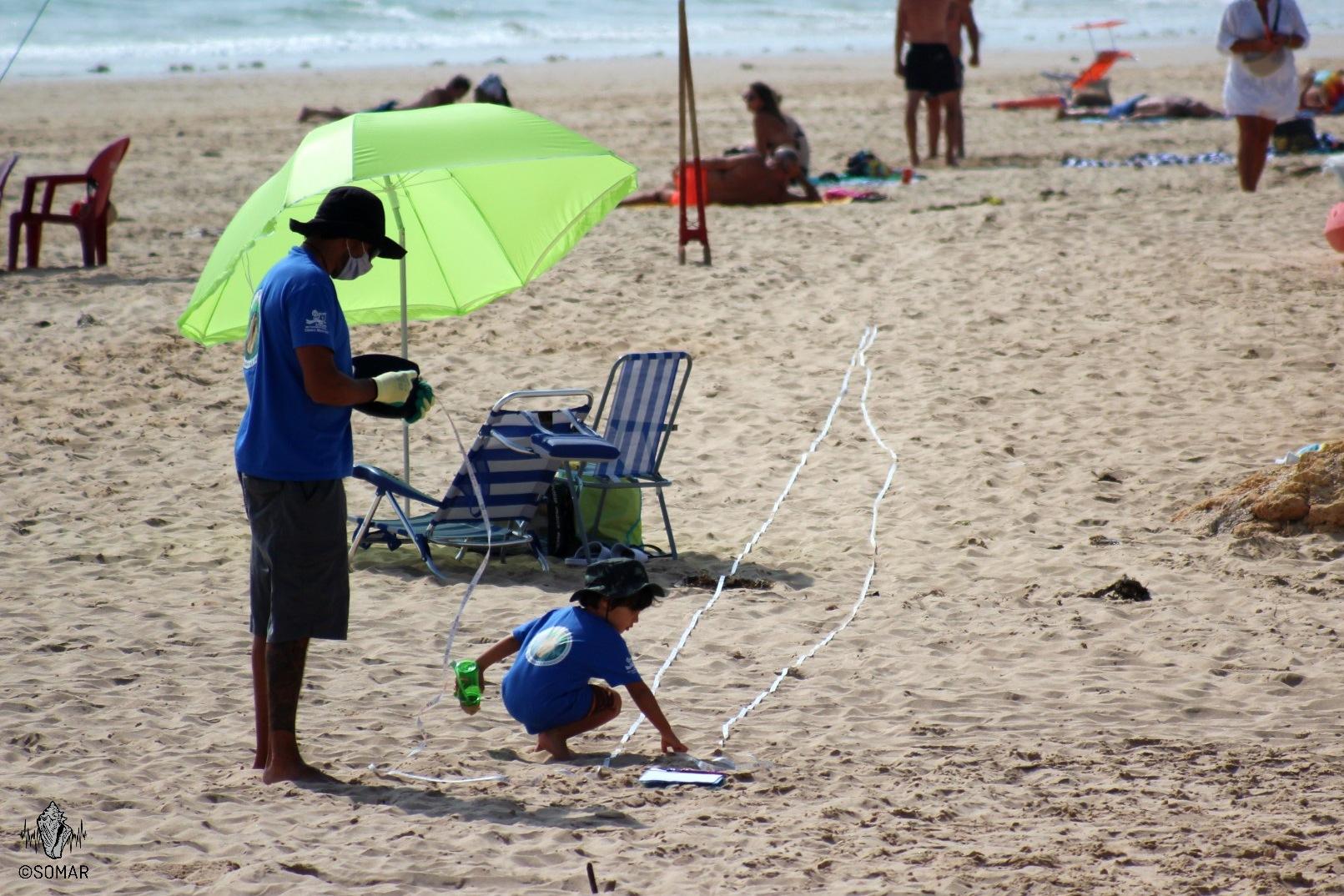 Porto de Mós - medição da praia